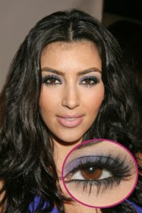 gunmetal smokey eyes like kim kardashian